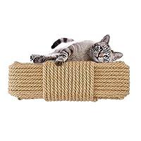 (アワンキー) Aoneky 麻縄 ジュートロープ キャットタワー ネコ 爪とぎ 爪を磨き おもちゃ 手作り DIY (直径6mm長さ20m)