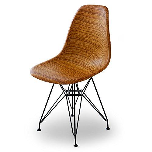 RoomClip商品情報 - LOWYA チェア シェルチェア DSR 木目デザイン スチール脚 リプロダクト ナチュラル おしゃれ 新生活