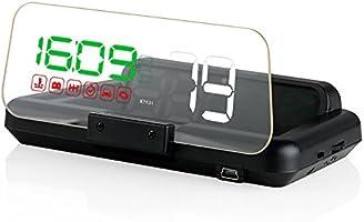 ニコマク NikoMaku HUD ヘッドアップディスプレイ OBD2 【本物のHUD C500 2重映像なし】 日本語説明書 後付け 車載スピードメーター 時速をフロントガラスに 過速度警告搭載