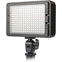 UTEBIT 照明 撮影ライト LED 204球 ビデオライト 高輝度 1440ルーメン 定常光ライト 双色温度 5600K/3200K for ニコン キャノン 一眼レフ ビデオカメラ 用 撮影用ライト 撮影照明 C-204/PT-204