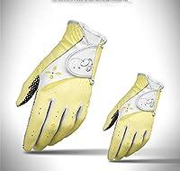 1ペア弾性ゴルフ手袋女性調節可能な通気性の女性の柔らかいPu滑り止め手袋アウトドアスポーツフルフィンガーグローブ