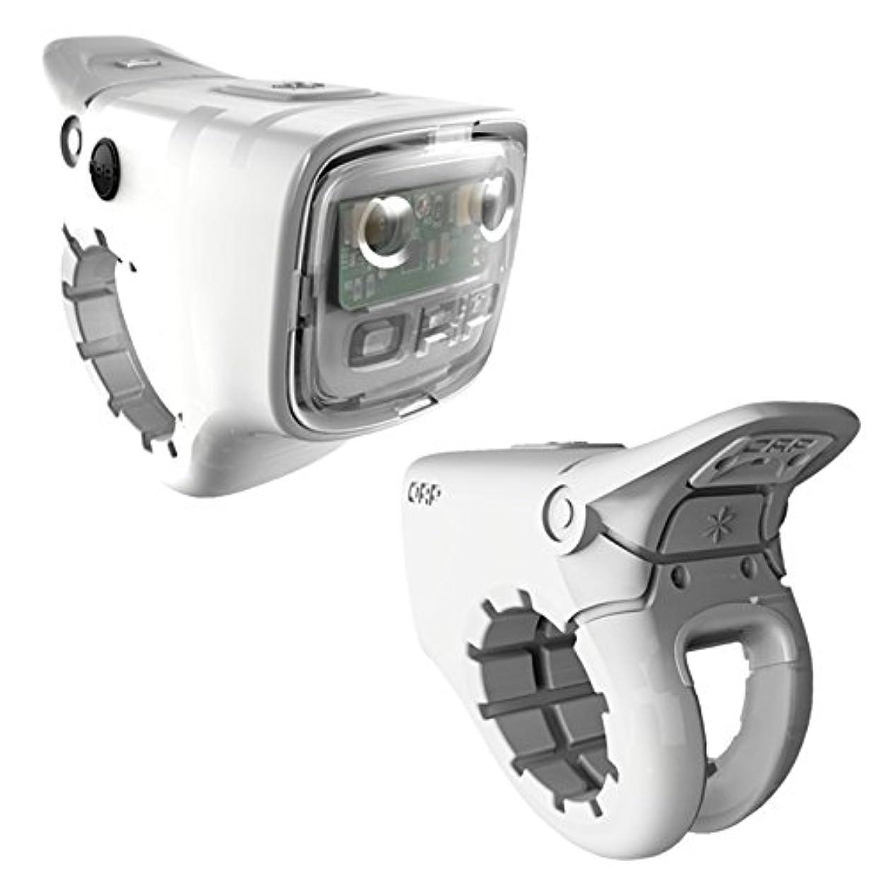 原子出版余韻ORP(オープ) SMART HORN(スマートホーン) ホワイト 世界初! 一体型LEDライト&ホーン USB充電タイプ Frostbyte White ORP 001-FW