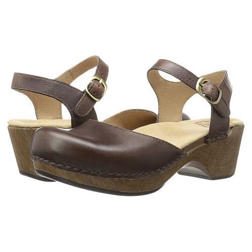 (ダンスコ)Dansko レディースクロッグズ・ミュール・スライド・靴 Sam Teak Vintage US Women's 6.5-7 23.5-24cm Regular [並行輸入品]