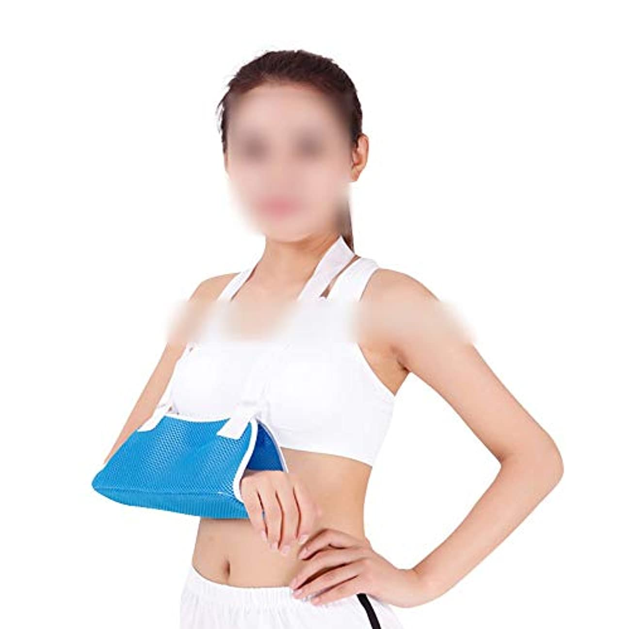 対話お尻アクチュエータZYL-YL 通気性の破壊アームスリング肘前腕スリング固定前腕肘関節固定装具装具のメッシュツール (色 : 黒)