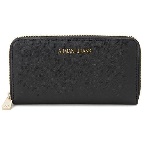 ARMANI JEANS (アルマーニジーンズ)ラウンドファスナー長財布 レディース 928532-CC857-00020 ブラック ZIP AROUND WALLET [並行輸入品]