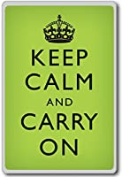 Keep Calm And Carry On - Motivational Quotes Fridge Magnet - ?????????