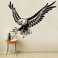 Ansyny イーグルフライング動物ウォールステッカー用キッズルーム壁の装飾取り外し可能なビニールウォールアートデカール家の装飾アクセサリー、57 * 44センチ