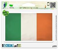 """アイルランド国旗グランジデザインビニール車バンパーウィンドウステッカー Large - 10"""" x 6"""" p3094C"""
