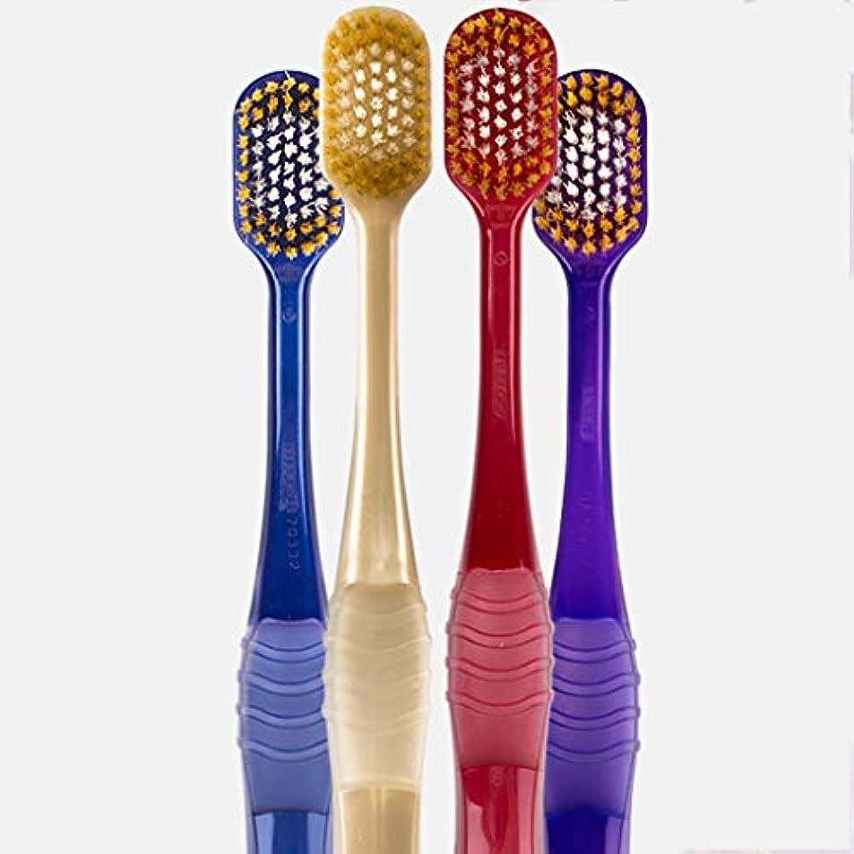 家庭教師ディーラー経済的超柔らかい歯ブラシ、大人家庭用歯ブラシ、4パック(ランダムカラー)