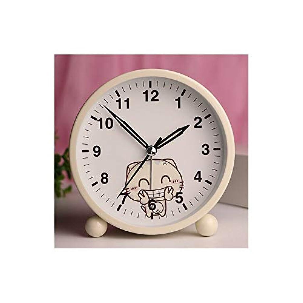 合理的ネックレス人生を作るKaiyitong001 目覚まし時計、サイレント学生かわいい目覚まし時計、寝室のシンプルな明るいベッド電子小型目覚まし時計、(黄色、ピンク) (Color : 2)