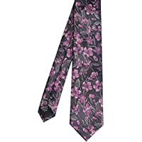 Tarocash Men's Specter Floral Tie Fit Sizes XS-5XL for Going Out Smart Occasionwear Formal