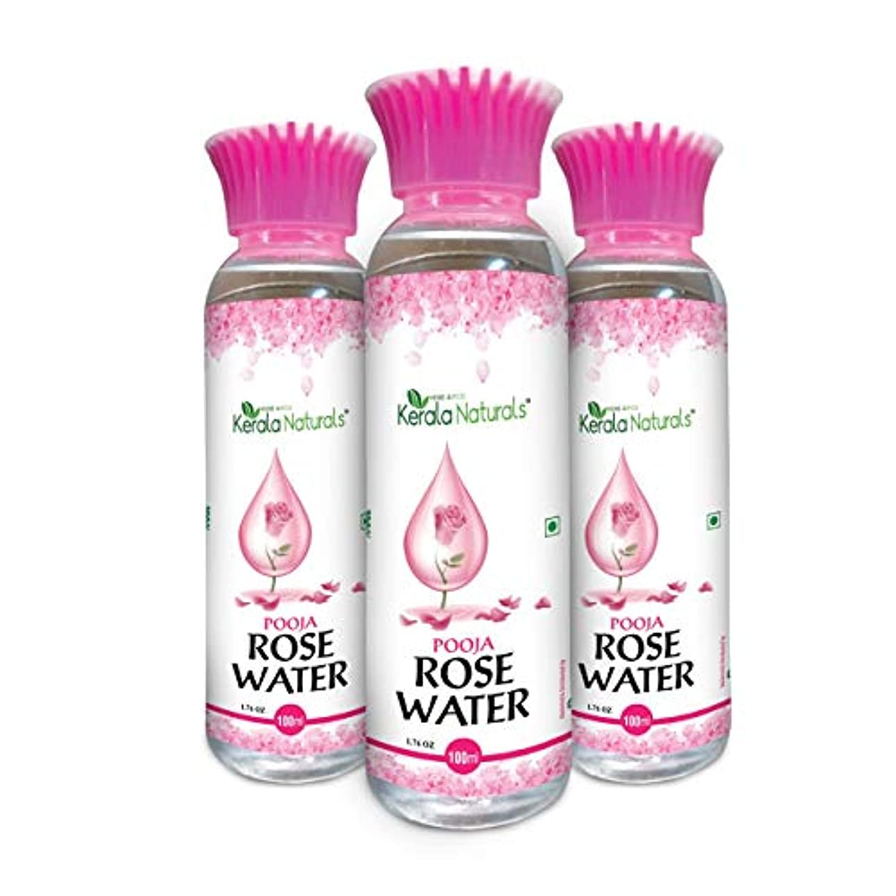 Pure Rose Water 300ml - Natural Toner, Recommended for acne and skin irritation - ピュアローズウォーター300ml-ナチュラルトナー、にきびや...