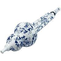 楽器ひょうたん笛プラスチック楽器中国風手作りひょうたん笛中国民族楽器の初心者及びプロ向け (青と白)(C管)