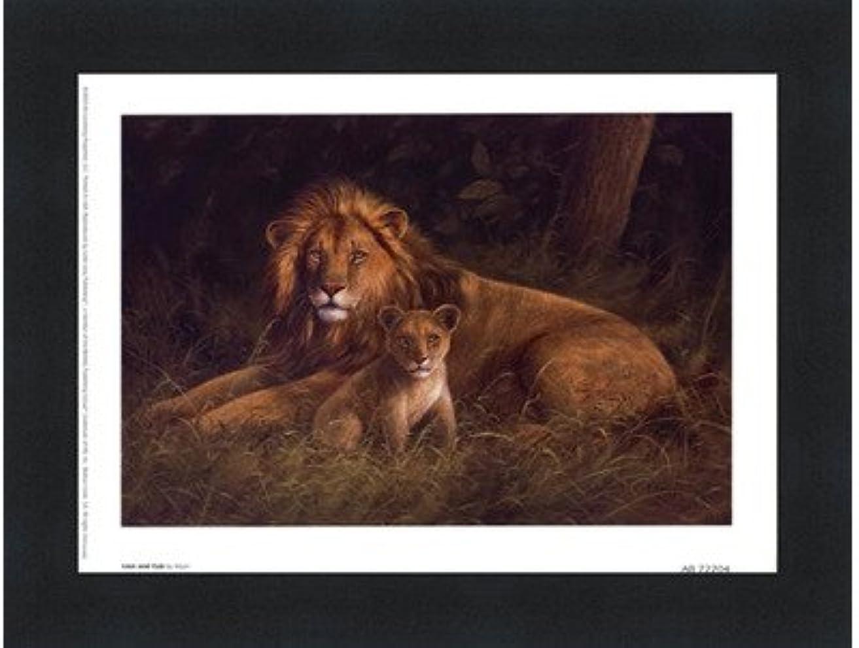 コショウ誘うストリームLion and Cub by Kilian – 8 x 6インチ – アートプリントポスター LE_66922-F101-8x6