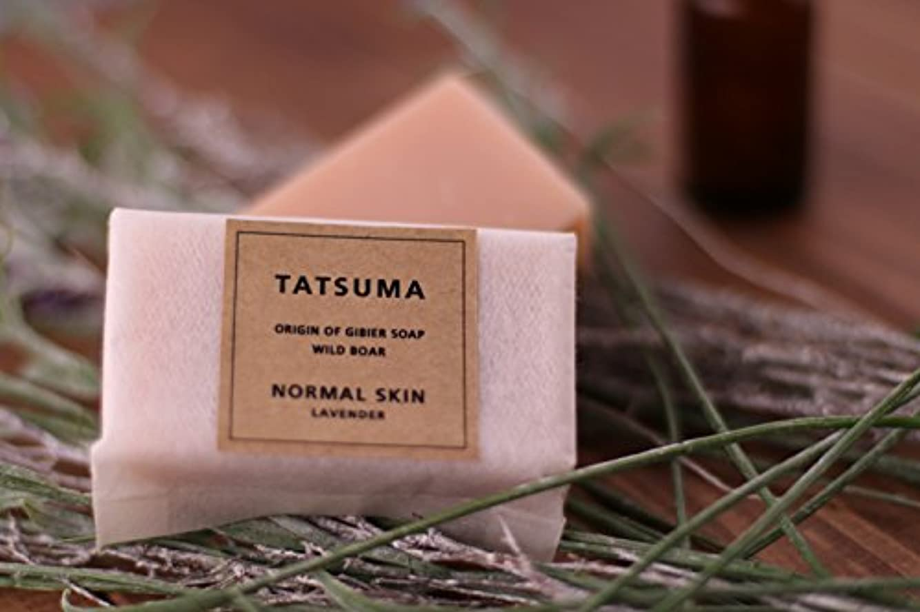 で精神的にエアコンたつま石鹸21(化粧石鹸) 非加熱製法   TATSUMA NORMAL SKIN LAVENDER