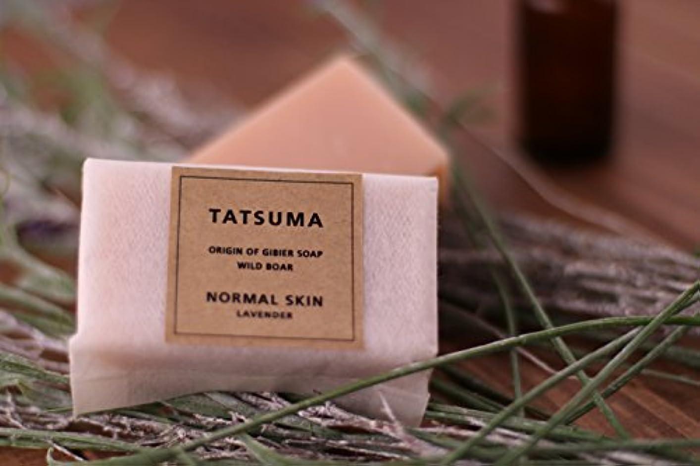 煙突適用済み塊たつま石鹸21(化粧石鹸) 非加熱製法 | TATSUMA NORMAL SKIN LAVENDER