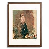 アンリ・ド・トゥールーズ=ロートレック Henri Marie Raymond de Toulouse-Lautrec-Monfa 「Portrait of a Young Woman」 額装アート作品