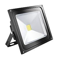 作業灯 50W LINKI,LEDライト 昼光色 黒い 作業灯投光器 看板灯 集魚灯 駐車場用 防水 長寿命 2年品質保証