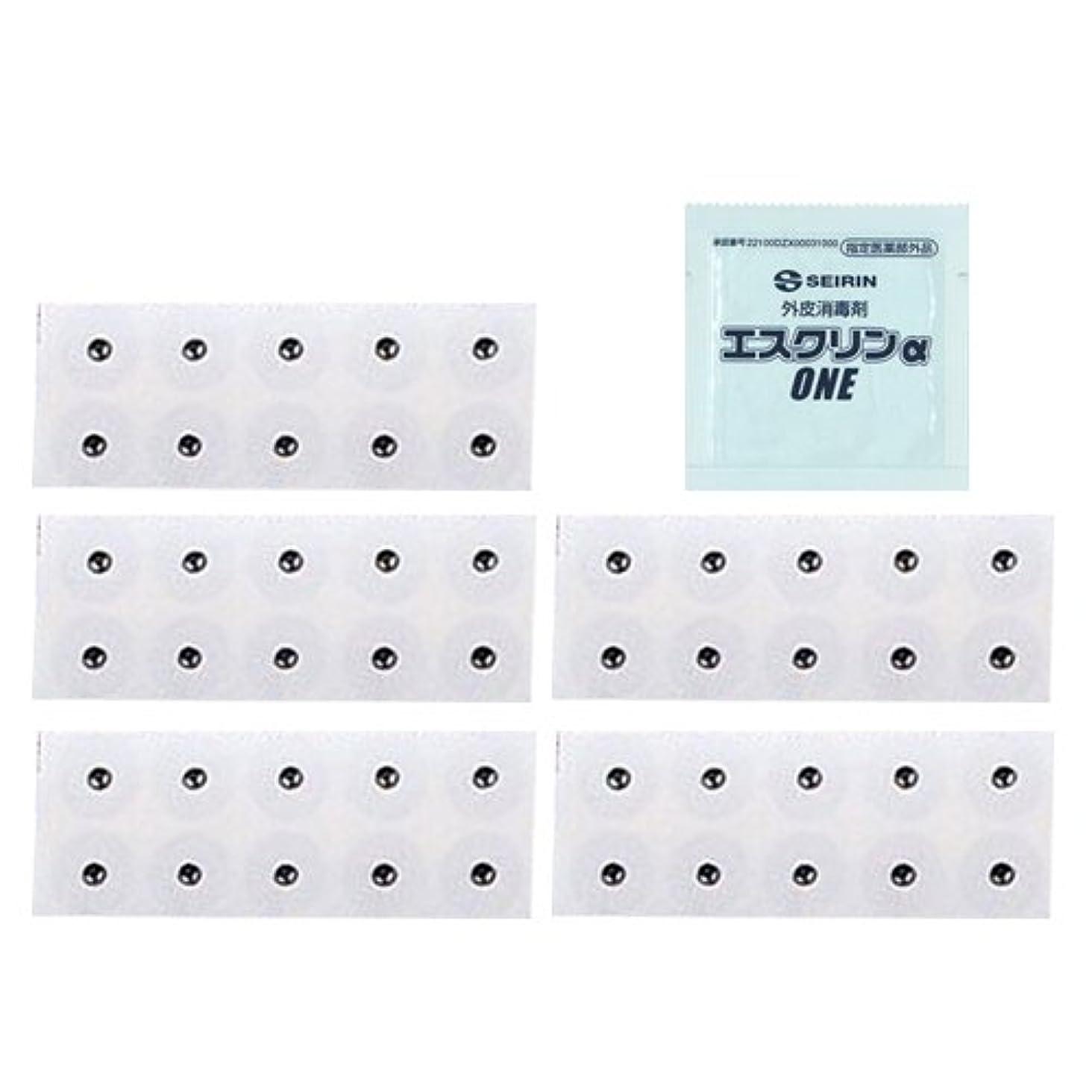 ダンス識字別々にユニコバン S 10本入 (995012) (太さ0.22×長さ1.1×磁石5.5mm) × 5シート + エスクリンαONE(1包)セット
