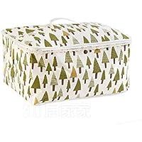 BBKANI ふとん収納袋 収納ボックス 大容量 布団 綿麻製 折り畳み式 防虫 防ダニ加工 抗菌 防カビ