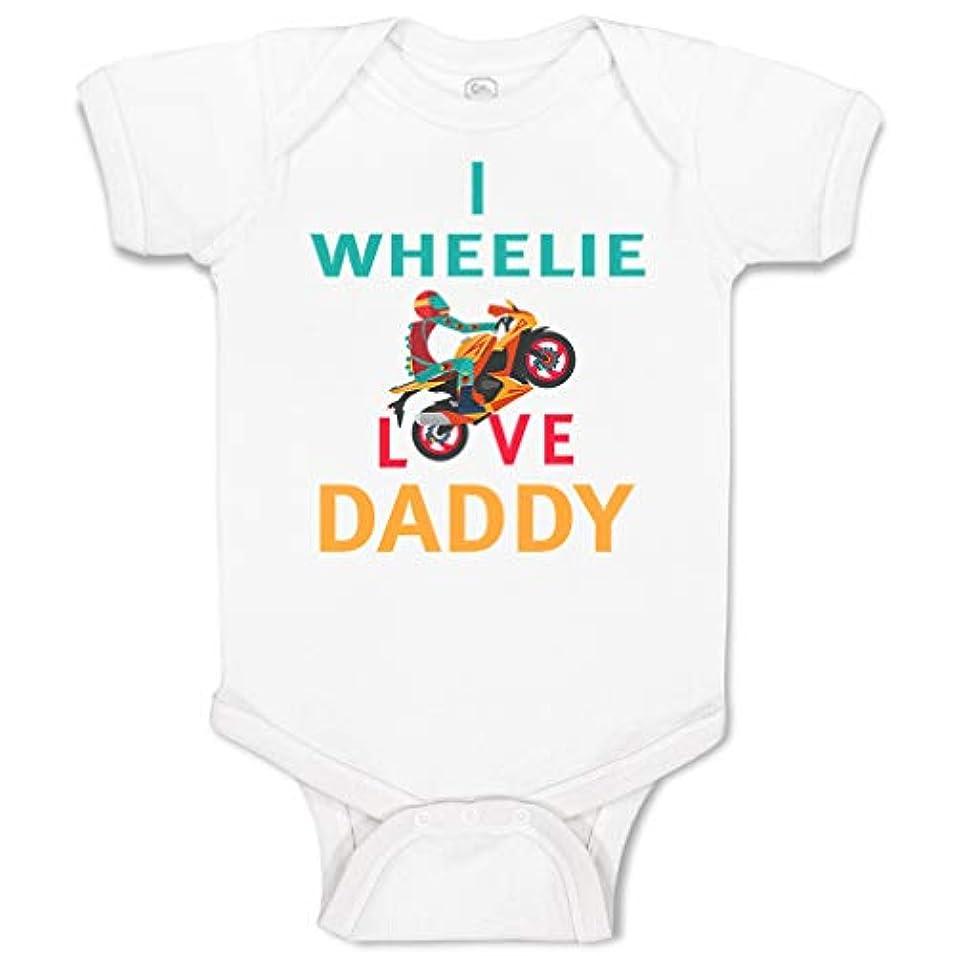 彼女自身徴収勢いカスタム ベビー ボディスーツ I Wheelie Love Daddy Dad 父の日 バイク ファニー