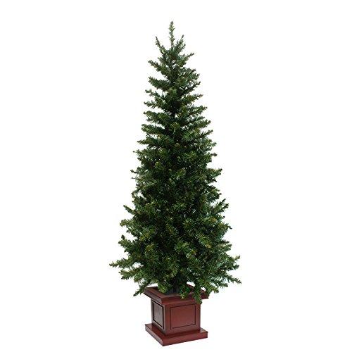 クリスマスツリー ウッドベーススリムツリー ポット 組み立て式 150cm