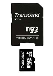 Transcend microSDカード 2GB (無期限保証) TS2GUSD