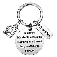 Ralukiia ミュージック先生への感謝のギフト 音楽の先生への退職ギフト 素晴らしい音楽の先生は見つけるのが難しいキーチェーン