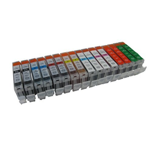 Sophia Global Compatible Ink Cartridge Replacement for Canon CLI-8 (2 Black, 2 Cyan, 2 Magenta, 2 Yellow, 2 Photo Cyan, 2 Photo Magenta, 2 Red, 2 Green)