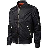 TOTNMC Men's Lightweight Jacket Winter Warm Up Jacket Thick Full Zip Jacket Coat Bomber Varsity Jacket Windbreaker