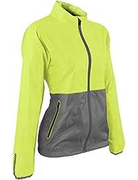 Sun Mountain golf- Ladies防水Cirrus Jacket Limeade /グレーMサイズ
