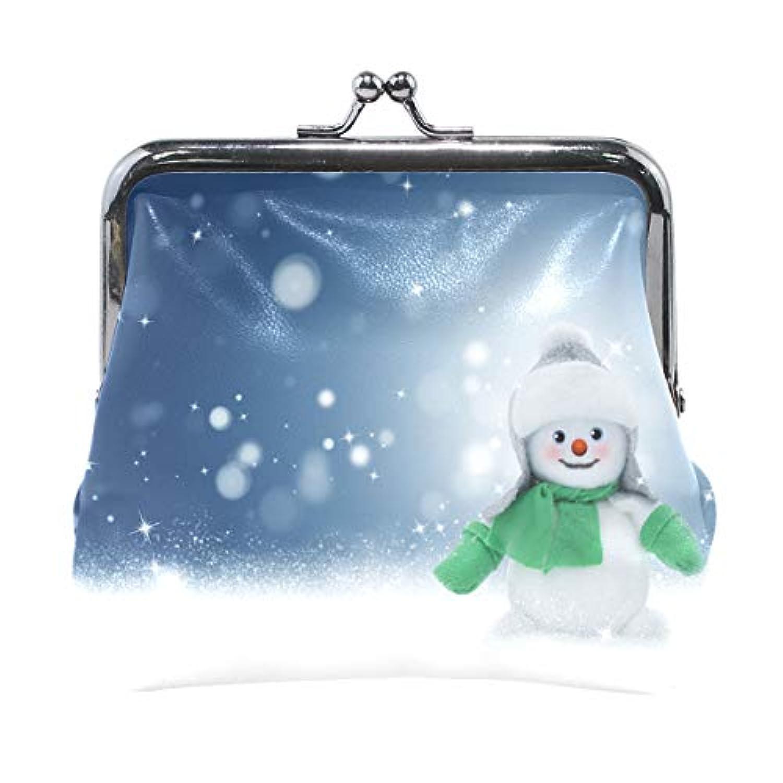 がま口 財布 口金 小銭入れ ポーチ 雪 雪だるま Jiemeil バッグ かわいい 高級レザー レディース プレゼント ほど良いサイズ