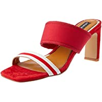 Jaggar Dynamic Stripe Heel, Womens Shoes, Red (Scarlet), Women