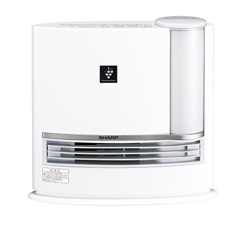 シャープ 加湿セラミックファンヒーター プラズマクラスター搭載 ホワイト HX-E120-W -