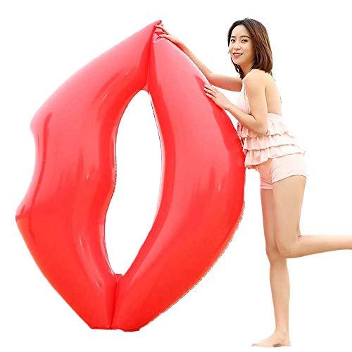 唇 浮き輪 プール フロート 海 浮き輪 セクシーデザイン 大人用 浮き輪 ベッド  (赤)