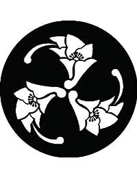 家紋シール 丸に三つ杏葉紋 布タイプ 直径40mm 6枚セット NS4-0553