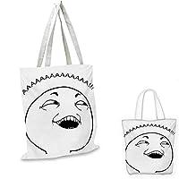 "HumorChubby Guy Meme Fat Angry Facial Expression Display インターネットキャラクタープリント 白黒 12""x14""-10"""