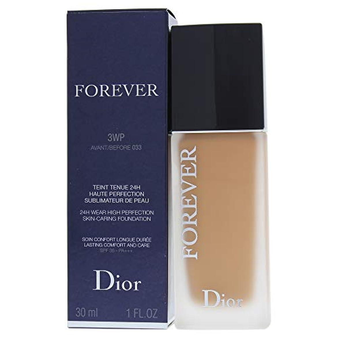 食料品店境界バンクリスチャンディオール Dior Forever 24H Wear High Perfection Foundation SPF 35 - # 3WP (Warm Peach) 30ml/1oz並行輸入品