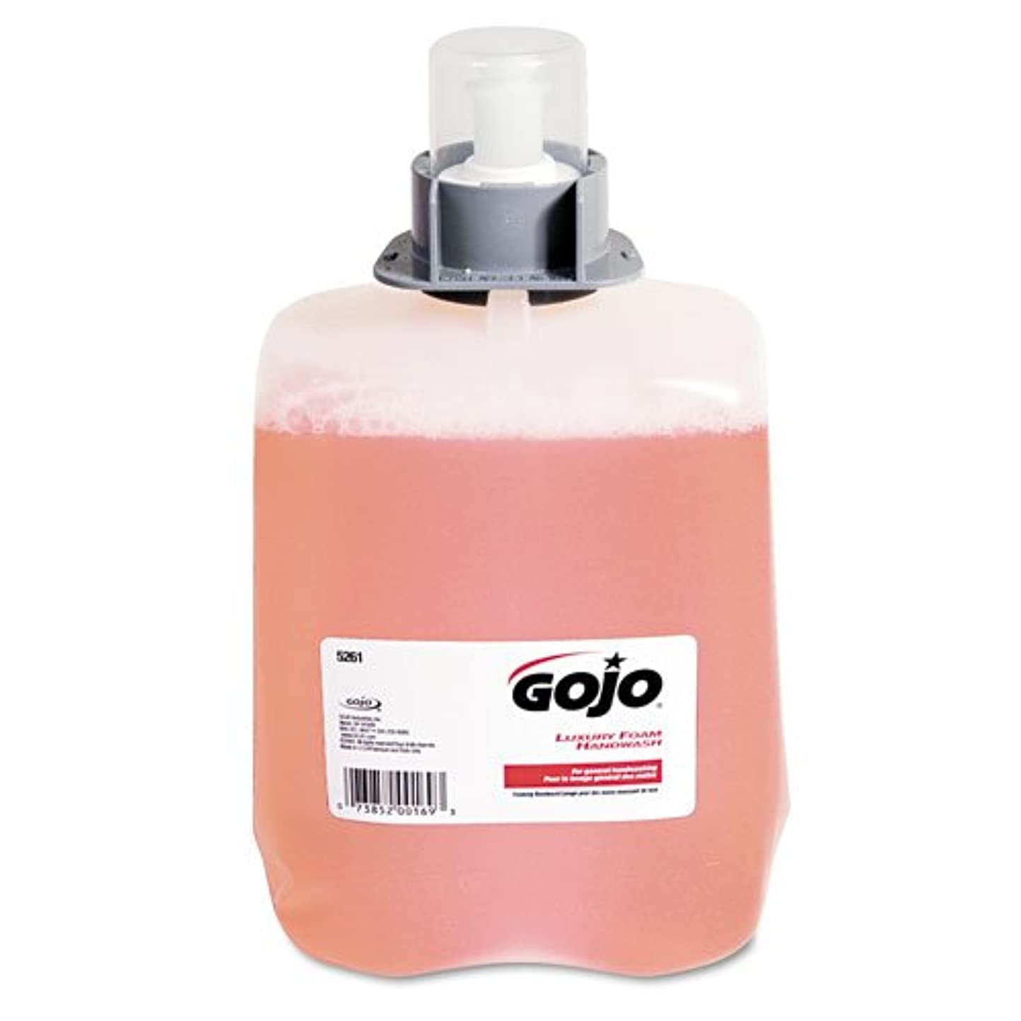 ラバアカデミックジェットGOJO ®ラグジュアリーFoam Hand Wash Refill for fmx-20ディスペンサー、クランベリー香り、2 / Ctn