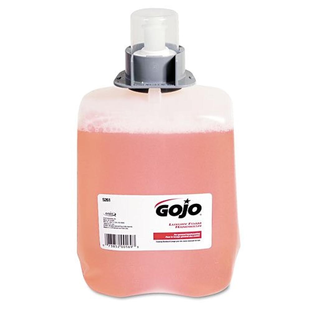 初心者オプショナルはしごGOJO ®ラグジュアリーFoam Hand Wash Refill for fmx-20ディスペンサー、クランベリー香り、2 / Ctn