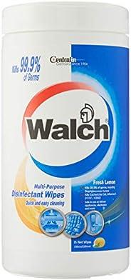 Walch Multi-Purpose Disinfectant Wipes - Fresh Lemon, 75 count