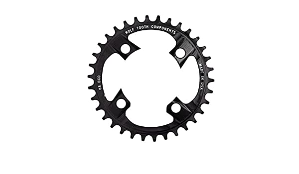 Wolf Tooth Components 38t 88bcd Drop-Stop Chainring for Shimano XTR M985 cranks