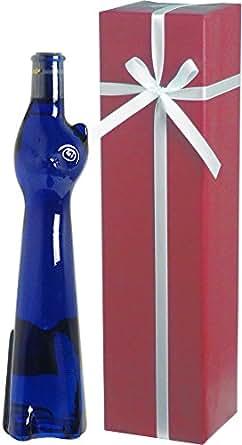 <青い猫のボトル> ラインヘッセン・リースリング Q.b.A. ネコボトル ギフト(白1本) (包装紙:ワイン)