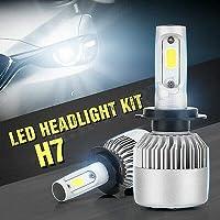 FidgetGear 2倍速H7 200W 23800LMハイ - ロービームLEDヘッドライト変換電球ホワイトキット
