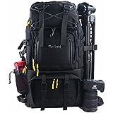 G-raphy Large Camera Backpack Bag Hiking Travel Backpack for All DSLR SLR Cameras, Laptops, Tripods and Accessories (Black)