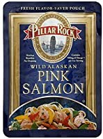 Pillar Rock Alaska Pink Salmon Pouch, Skinless Boneless, 3.0-Ounce Pouches (Pack of 12)