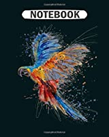Notebook: colourful peacock  College Ruled - 50 sheets, 100 pages - 8 x 10 inches