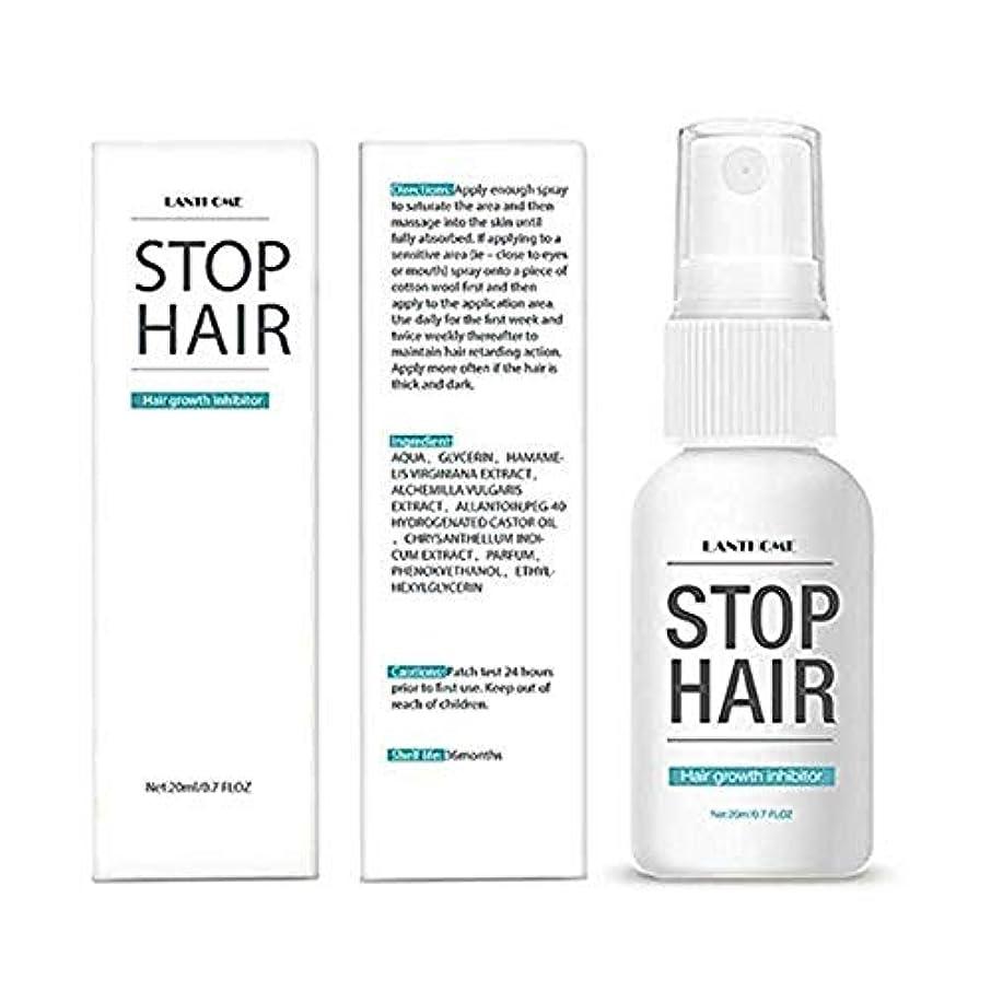 なに無線スリルパーマネントストップ脱毛抑制剤陰毛修復スムースボディ脱毛トリートメントスプレーフェイシャルヘアリムーバー女性男性、ナチュラル-0.7 oz