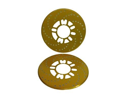 ディスク ブレーキ ドレスアップ ドラム ブレーキ カバー アクセサリー 2枚 セット 選べる 5色 (ゴールド)