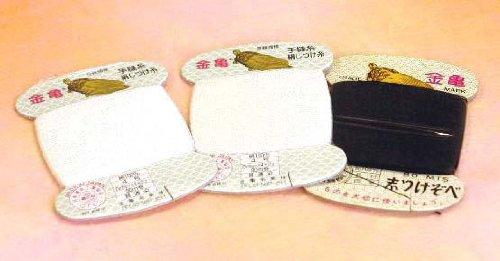 金亀印 〔色:白〕絹手しつけ糸(ぞべ)4号80mカード